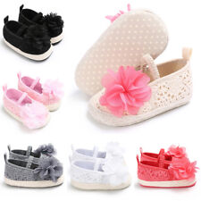 Baby Girls Toddler Lace Flower Rattan grass Soft Bottom Flat Sneaker Shoes