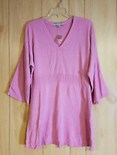 Soft by Avenue - Women's Long V-neck 3/4 Sleeve Tunic Sweater - Size 14 / 16