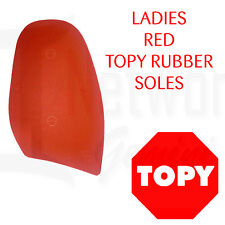 RED Topy Rubber Soles - 1.5mm Professional Grade - DIY - Save Your Sole Red