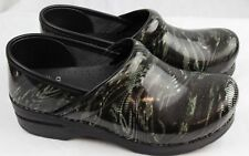 Dansko Professional Whirl Patent Leather Clogs Doctor/Nurses/Chef Orthotic Shoes