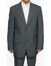 Mens 2 Pc Slim Fit Gray Dress Suit Jacket & Pants 42L 42 L Long New