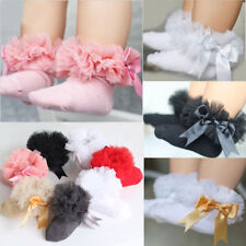 Baby Girls Frilly Lace Low Cut Ankle High Cotton Tutu Socks Christening Wedding