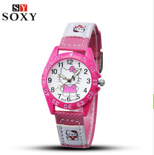Hello Kitty Kids Watches Children's Watches Gril Lovely Cartoon Watch Leather