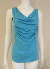 NEW Ruched DRAPED Scoop Neck TANK TOP KNIT Size LARGE Light sweater Rayon Blend