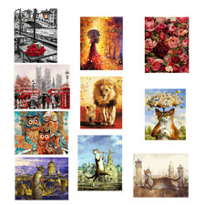 No Framed Canvas DIY Oil Painting Decorative Paint by Number Kit Living Room