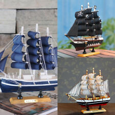 9.5'' Handcrafted Nautical Ship Model Pirate Boat Wooden Sailing Ocean Gift
