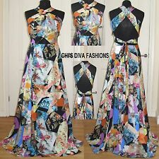 EX ASOS Occasion Floral Cut Out Maxi Dress Sizes 8-18   Length:61""