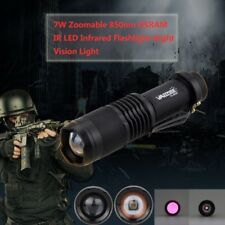 Zoomable 850nm OSRAM IR LED Infrared Flashlight Night Vision Light Torch Lamp BY