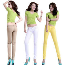 1Pcs Stretchy  Fit Ladies Skinny Jeans Coloured Trousers New