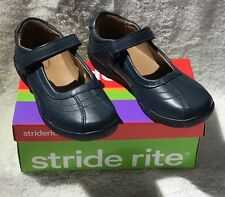 STRIDE RITE CLAIRE GIRLS SCHOOL SHOE NAVY LEATHER REG $46 NOW $24.99!!!!