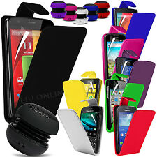 Premium PU Leather Flip Case Cover, Film & Mini Speaker For Various Handsets
