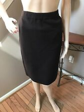 NWT St. John Marie Gray Sable Brown Wool Blend Straight Pencil Skirt 12