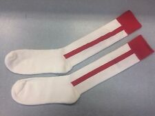 Pearsox Athletic All In One Knee High Stirrup Socks - White/Red