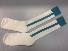 Pearsox Athletic All In One Knee High Stirrup Socks - White/Teal