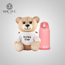 Bear Baby Bottle Insulation Cup Stainless Steel Cute Thermos Mug GOC IN C