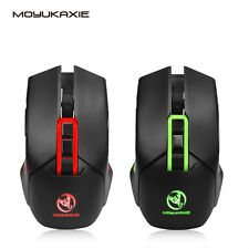 X80 Optical Wireless Gaming Mouse with 7 Bright Colors LED Backlit +USB Receiver