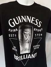 Guinness Men's Black T-shirt EXTRA STOUT XXL) NO BEER COMES NEAR BRILLIANT NEW!