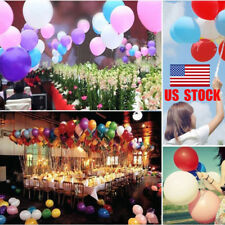 US 100Pcs 10 Inch Birthday Party Wedding Holiday Colorful Pearl Latex Balloons