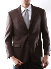 Prontomoda Europa, Men's 100% Lamb's Wool Brown Sport Coat #J49112S-49105-BRO
