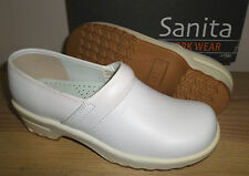 NEW SANITA White Leather LISA Work Wear Pro Nursing SHOES Womens 38 7.5 8 NIB