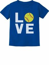 Love Softball - Gift for Softball Fans Cute Toddler Kids T-Shirt Softball Player