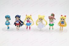 "Anime Sailor Moon mini cute Crystal girl PVC figure Prize Toys gift 3"" 6 types"