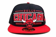 Chicago Bulls Black Scarlet Red White Retro Smooth New Era 59Fifty Fitted Hat