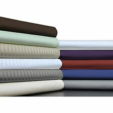 Grab It! 4PC Bed Sheet Set 1000TC Egyptian Cotton Full Size Solid/Striped Colors