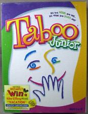 Taboo Junior Game 2001 - Excellent Condition!  100% Complete!