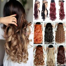 One Piece 10% Real Clip In Human Hair Extensions 3/4Full Head Synthetic 120-200g