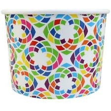 Kaliadescope Ice Cream Paper Cups - 12 oz Disposable Birthday Party Cups