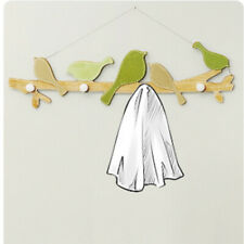 Sweet Home Decoration Wooden Storage Rack Clothes Bag Hanger Hook Wall Mounted