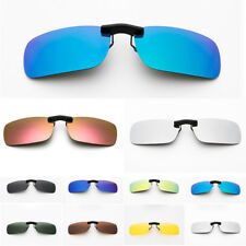 Polarized Clip On Sunglasses Driving Day Night Vision for Myopia Glasses Eyewear