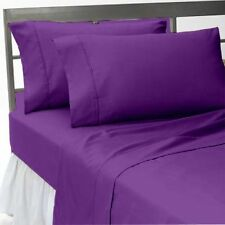 Awesome Bedding Collection 1000TC Egyptian Cotton UK King Size Purple Solid