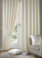 JACQUARD CHECK LINED CREAM PENCIL PLEAT CURTAINS 9 SIZES