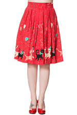 Banned Retro Vintage Cat Party Freedom Circle Skirt
