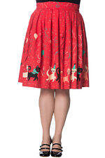 Banned Retro Vintage Cat Party Freedom Circle Skirt Plus Size
