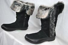 NEW THE NORTH FACE JOZIE II BOOTS BLACK WOMENS INSULATED SUEDE WATERPROOF 7-9
