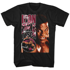 Mike Tyson Mens New Boxing T-Shirt BOOTS in 100% Black Cotton Sizes SM - 2XL