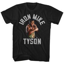 Mike Tyson Mens New Boxing T-Shirt GIMMIE GOLD in Black Cotton  Sizes SM - 2XL
