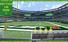 4 Front row Carolina Panthers at New York Jets tickets section 149 row 1