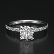 1 1/2 Carat Solitaire Round Cut Diamond Engagement Ring H/VS2-SI1 18K White Gold