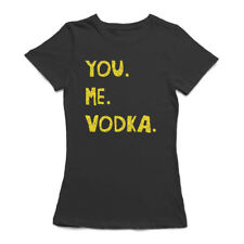 You Me Vodka Funny Drink Alcohol Women's Black T-shirt