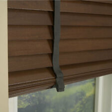 MADE TO MEASURE WALNUT WOODEN VENETIAN BLIND WITH TAPES REAL WOOD