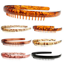 Fashion Toothed Resin Headband Comb Alice Band Sports Unisex Hair Accessory