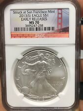2013 Early Release American Silver Eagle $1 NGC MS70 San Francisco