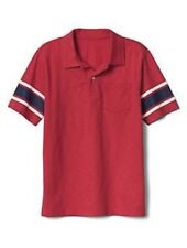 NWT GAP KIDS BOYS POLO SHIRT TOP red pocket stripe sleeves   you pick size