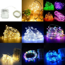 Waterproof 5/10M 50/100LEDs Battery Fairy String Light Christmas Party Decor