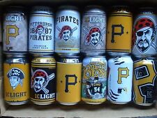 PITTSBURGH PIRATES Beer Cans CHOICE Bottom opened Clean Iron City Bud