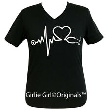 "Girlie Girl Originals ""Nurse"" Vintage Black V-Neck Short Sleeve T-Shirt"